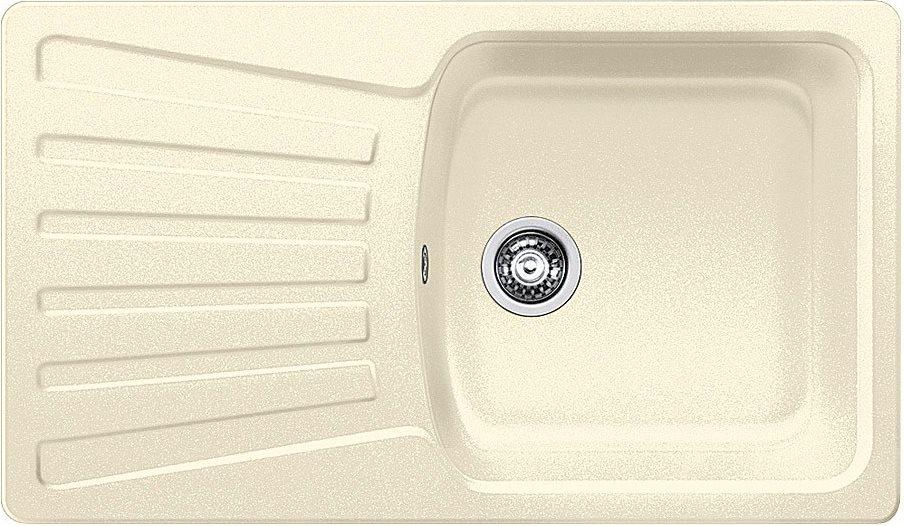 Dettagli su Lavello Cucina 1 Vasca BLANCO Incasso Gocciolatoio 86 cm Avana  1217079 Nova 5 S