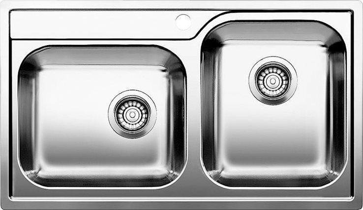 Dettagli su Lavello Cucina 2 Vasche BLANCO Incasso 86 cm Base 90 cm Acciaio  1612659 Median 9