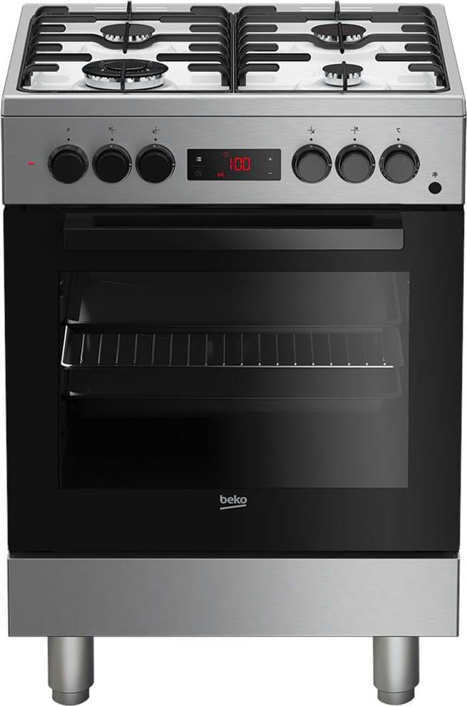 Cucina A Gas 4 Fuochi Beko Con Forno Elettrico Grill 60x60 Cm Inox Fse 62110 Dxf Ebay