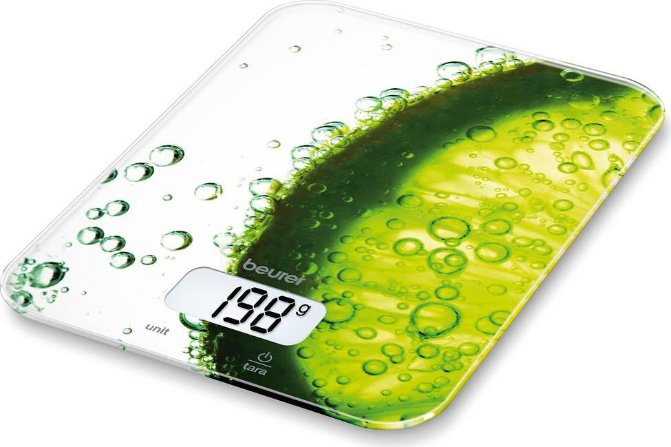 Bilancia Cucina Digitale Elettronica Beurer Peso Max 5Kg Vetro Fresh KS19