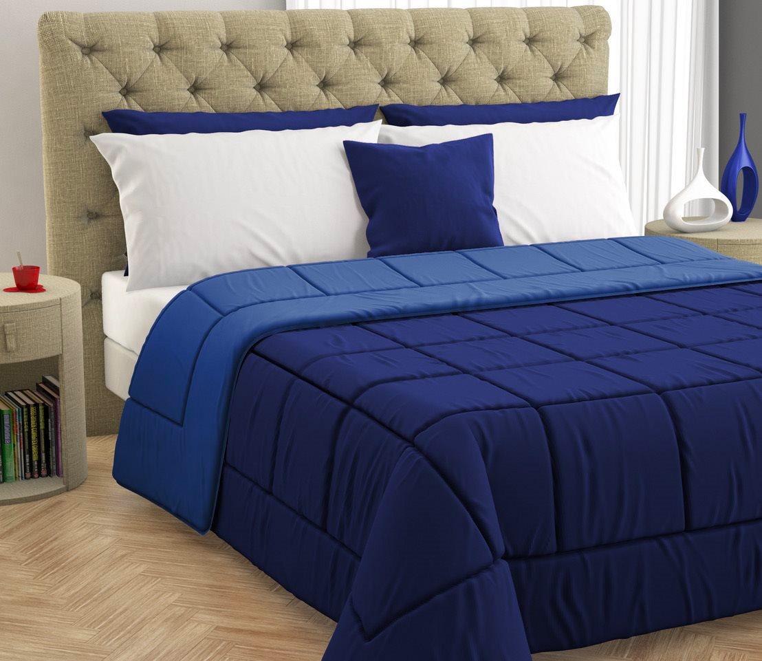 Copripiumino Matrimoniale 260x260.Trapunta Matrimoniale Invernale 260x260 Cm Blu Blu Navy 170207 Ebay