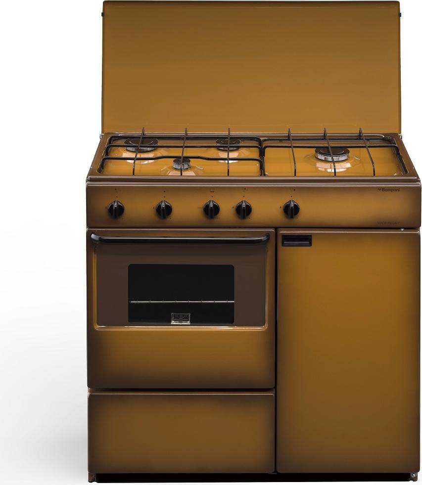 Cucina a gas 4 fuochi bompani con forno a gas 85x45 cm coppertone bi961ya l ebay - Consumo gas cucina ...