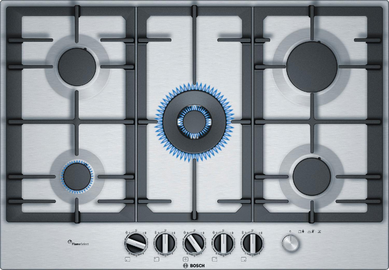 Bosch Piano Cottura 5 Fuochi Incasso a Gas 75 cm Griglie Ghisa ...