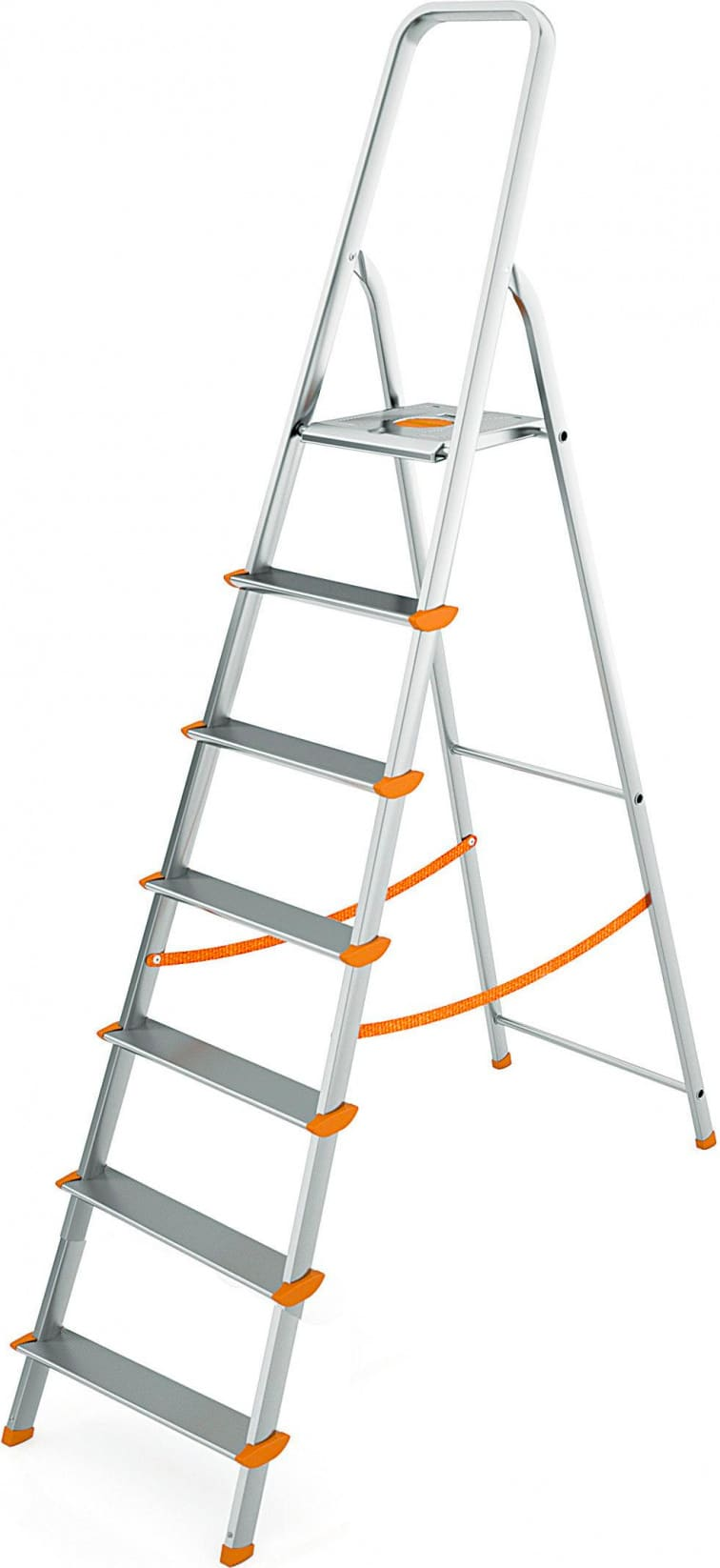 Altezza Gradini Scala dettagli su scala alluminio 8 gradini colombo altezza max 174 cm 150 kg  s108a08w aluminium