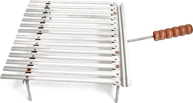 Graticola acciaio inox camino griglia barbecue cm 50x35 for Griglia per barbecue bricoman