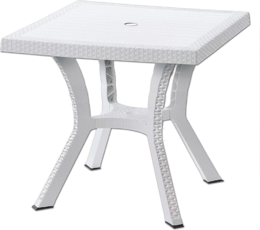 Tavolo Da Giardino Rattan Allungabile.Tavolo Da Giardino Rattan Sintetico Quadrato 79x79x72 Figaro Elite