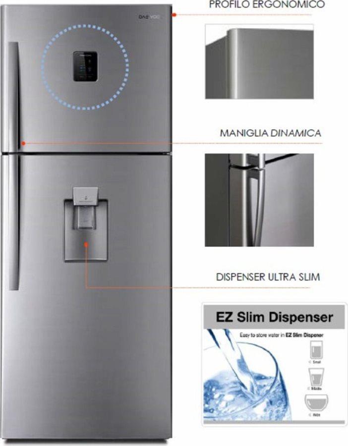 Frigorifero Doppia Porta No Frost Frigo Daewoo 533 LT A+ Dispenser ...