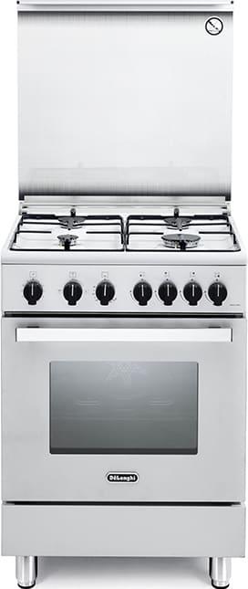 Cucina a gas 4 fuochi de longhi forno a gas grill 60x60 cm bianco dgw 64 design ebay - Consumo gas cucina ...