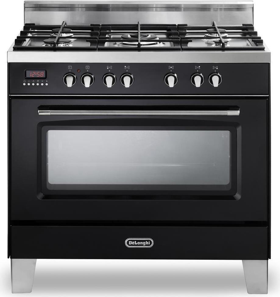 Cucina a gas 5 fuochi de longhi forno elettrico ventilato 90x60 cm mem 965 nbx ebay - Consumo gas cucina ...
