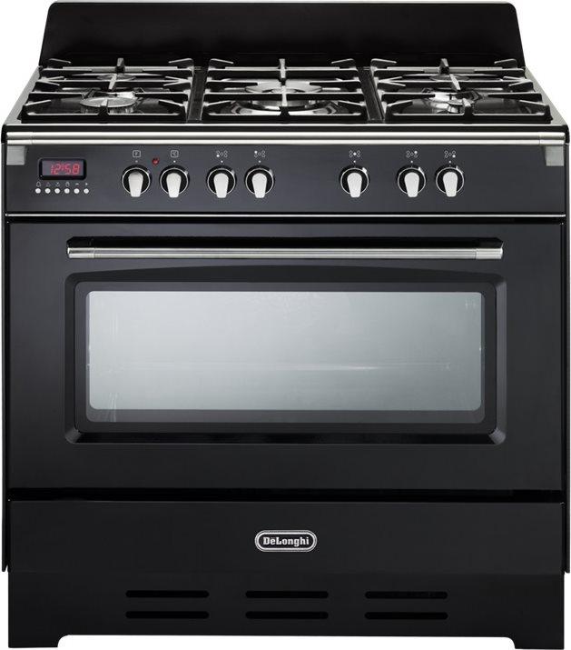 Dettagli su Cucina a Gas 5 Fuochi De Longhi Forno Elettrico Ventilato 90x60  cm MEM 965 NN