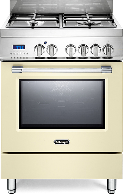 Cucina a gas 4 fuochi de longhi con forno elettrico ventilato 60x60 cm pro 66 mc ebay - Consumo gas cucina ...