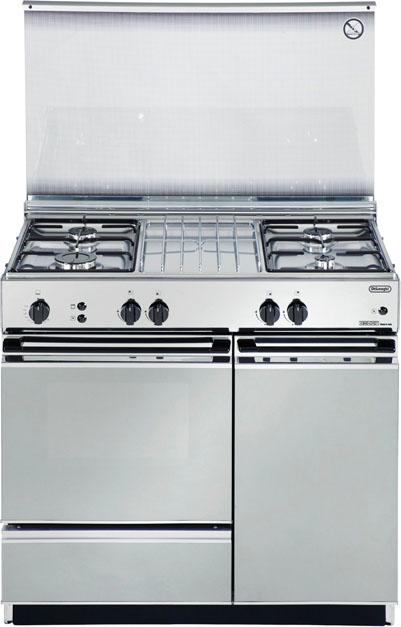 Cucina a gas 4 fuochi de longhi forno a gas grill 86x50 cm - Consumo gas cucina ...