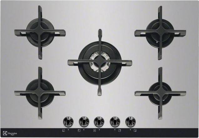 Electrolux Piano cottura 5 Fuochi incasso a gas 75 cm Cristallo Inox ...
