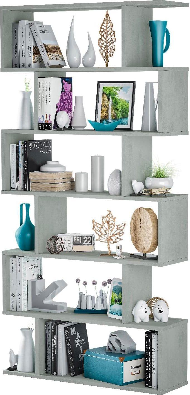 Ikea Scaffali Legno Ivar dettagli su libreria scaffale verticale legno 80x25x192h cm cemento athena  fores habitat