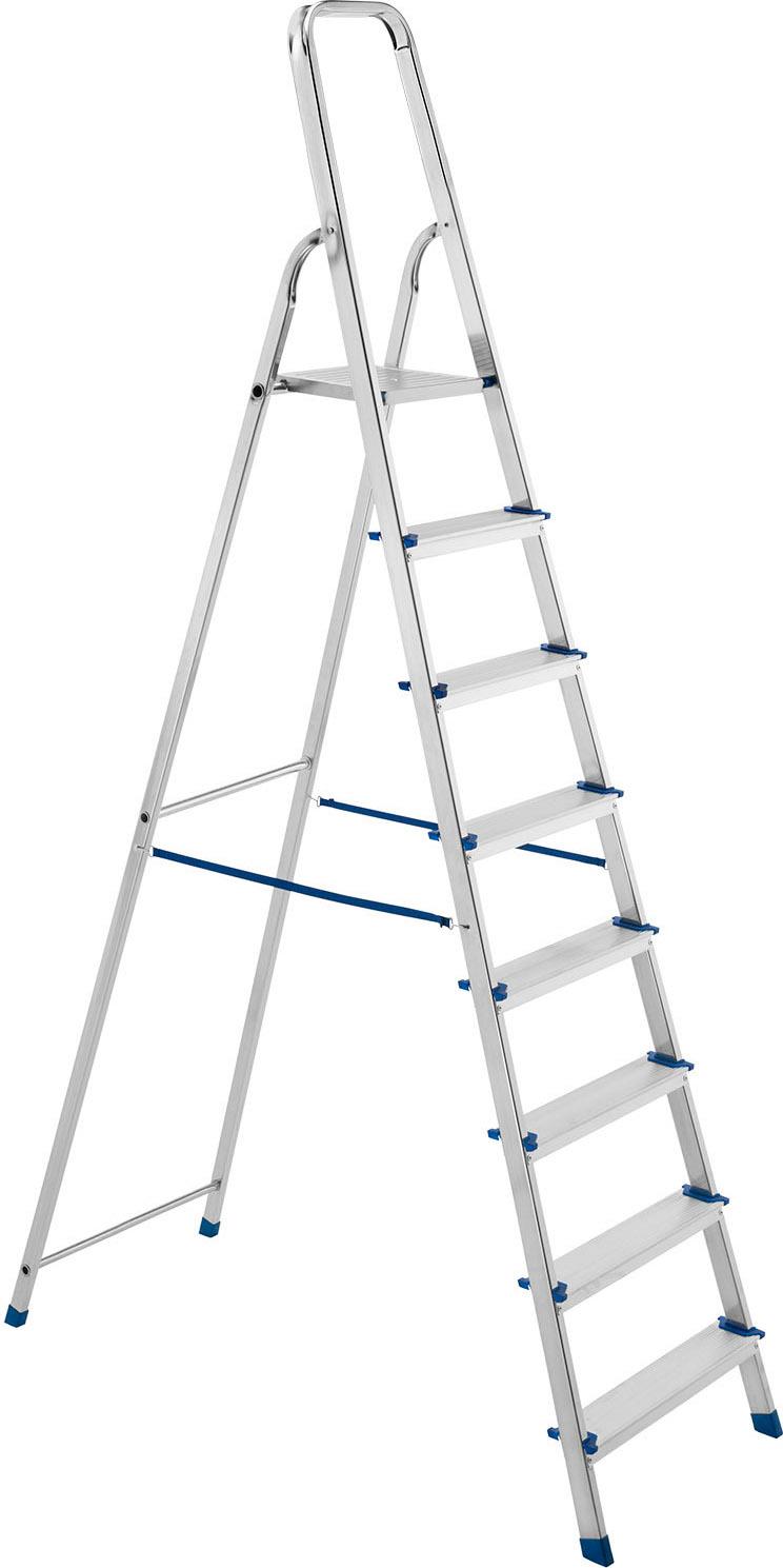 Altezza Gradini Scala dettagli su framar scala alluminio 8 gradini a libretto altezza cm 170 -  piuma 8
