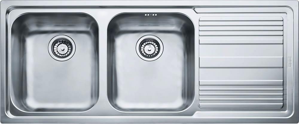 Lavello Cucina 2 Vasche Acciaio Inox Incasso 116 cm Franke 101.0085 ...