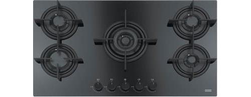 Piano Cottura 5 Fuochi Nero Franke a Gas 88 cm Incasso FHCR 905 4G ...