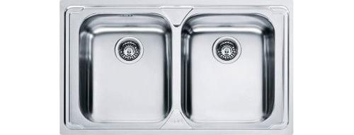 Lavello Cucina 2 Vasche Acciaio Inox Franke 79 cm 101.0153.289 LLX62 ...