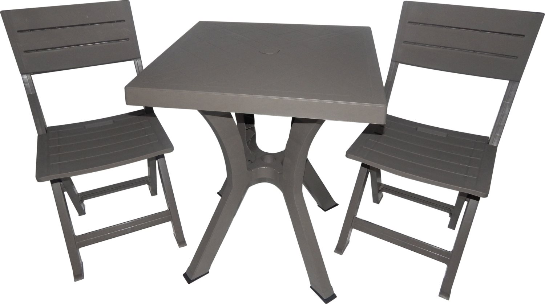 Tavolo da giardino set 3 pz tavolino sedie da giardino duetto to