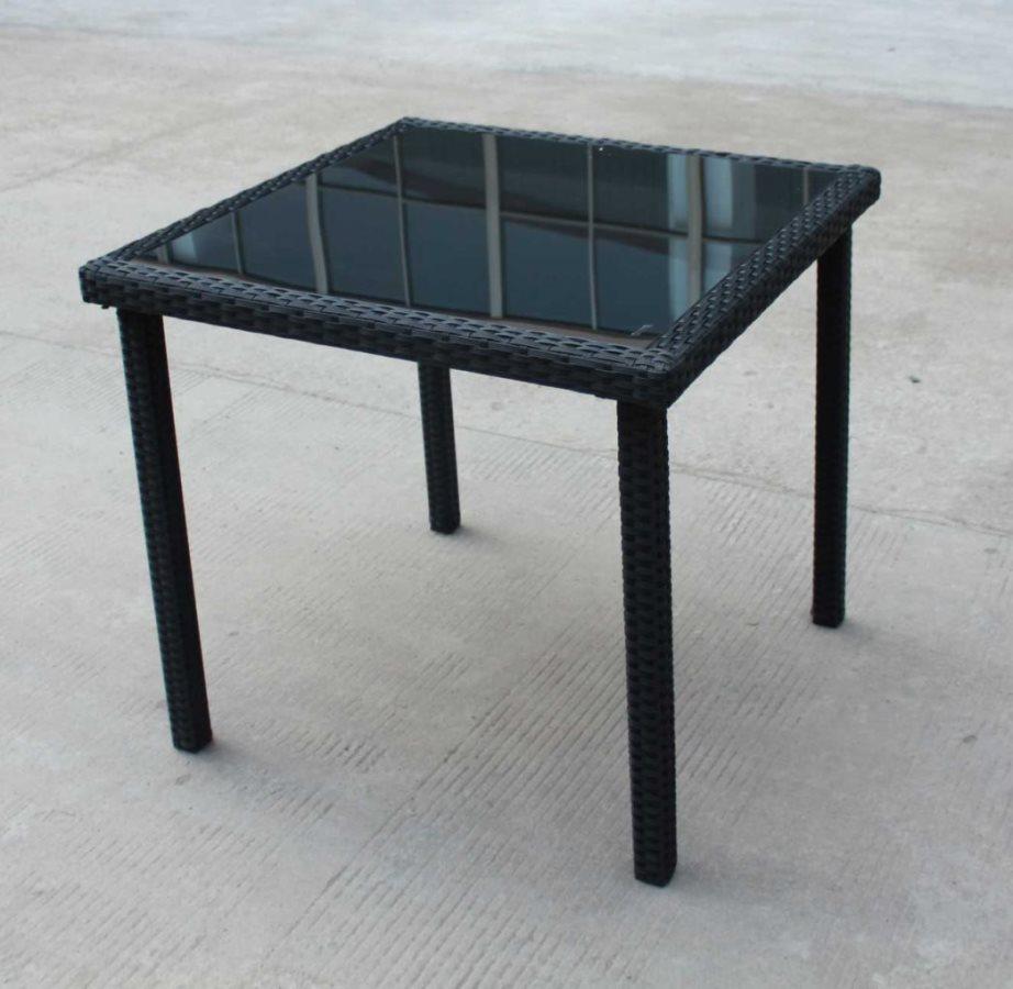 Tavoli Da Esterno In Rattan.Dettagli Su G Del Re Tavolo Da Giardino Eff Rattan Tavolino Esterno 80x80x74cm New Edera