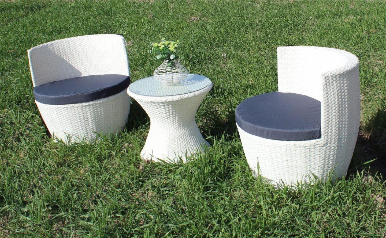 Salotto giardino eff rattan set arredo giardino 3 pz for Set giardino esterno