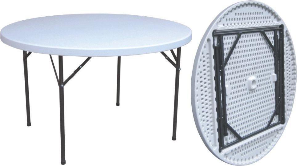 Tavoli Da Giardino Pieghevoli In Plastica.Tavolo Da Giardino Pieghevole Tondo In Acciaio E Plastica 122cm G
