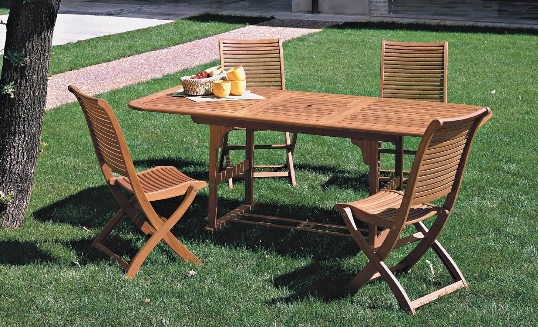 Tavolo Da Giardino Allungabile Usato.Tavolo Da Giardino Allungabile In Legno 120 160x80x75 Riviera Ebay