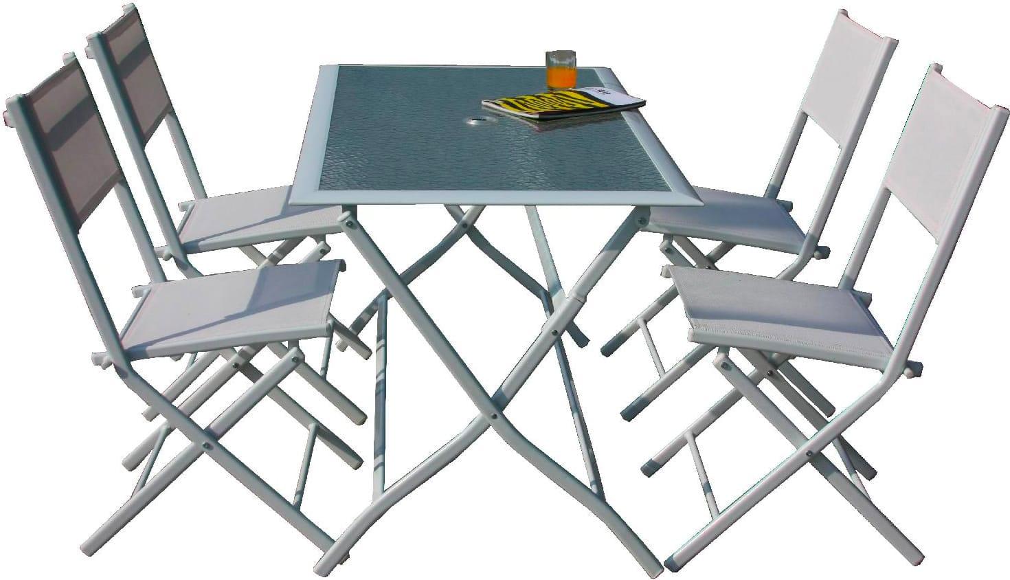 Tavolo Da Giardino Con Sedie Tavolo Pieghevole 4 Sedie Astrowh G Del Re Ebay