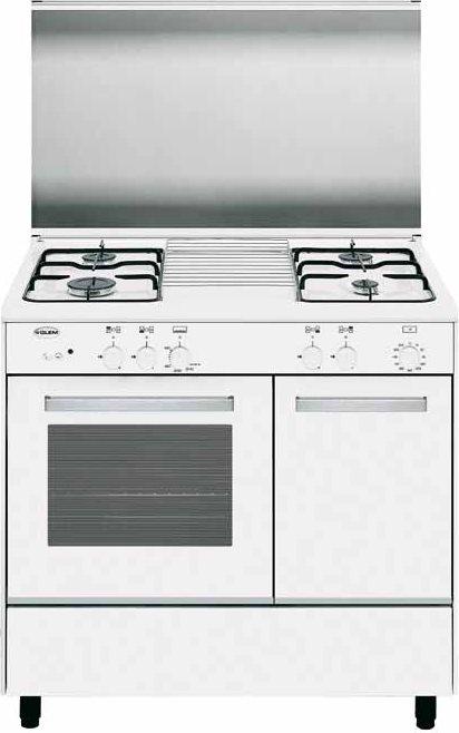 Glem gas cucina a gas 4 fuochi forno a gas grill 90x60 cm - Cucine glem gas opinioni ...