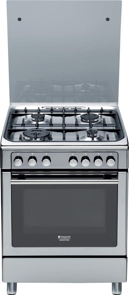 Dettagli su Cucina a Gas 4 Fuochi Hotpoint Ariston Forno Elettrico 60x60cm  CX65S7D2IT(X)/HAH