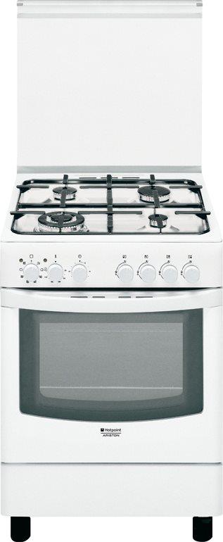 Hotpoint Ariston Cucina a Gas Forno Elettrico 4 Fuochi cl. A CX65SP1 ...