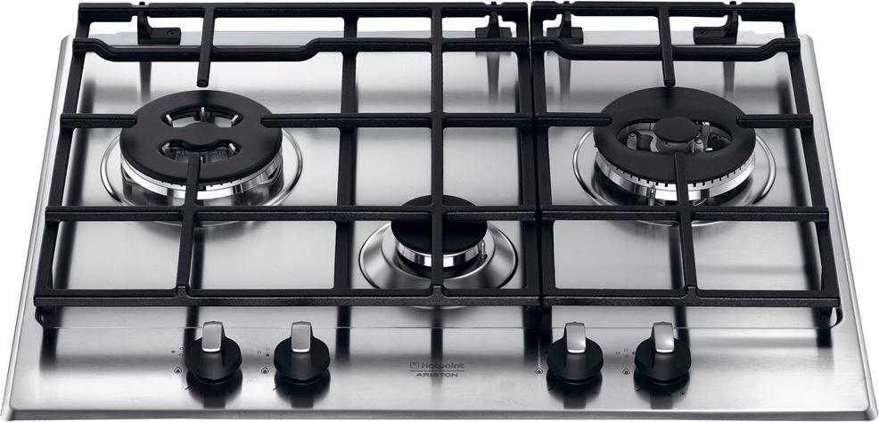 Hotpoint Ariston Piano cottura incasso a gas 3 Fuochi 65 cm Inox ...