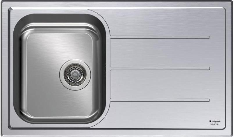 Dettagli su Lavello Cucina 1 Vasca Incasso Acciaio Inox Ariston 86 cm  SC86W1X