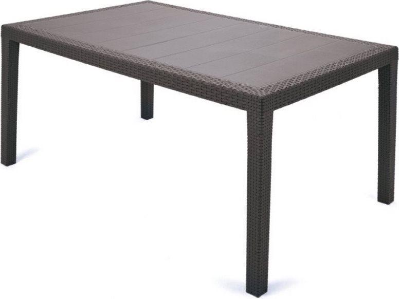 Tavoli Per Esterno In Rattan.Dettagli Su Tavolo Da Giardino Rattan Sintetico 150x90x72 Marrone Ipae Progarden Prince