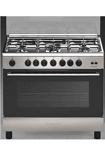 Cucina a gas 5 fuochi indesit con forno a gas grill 90x60 cm inox i95t1f k i ebay - Consumo gas cucina ...