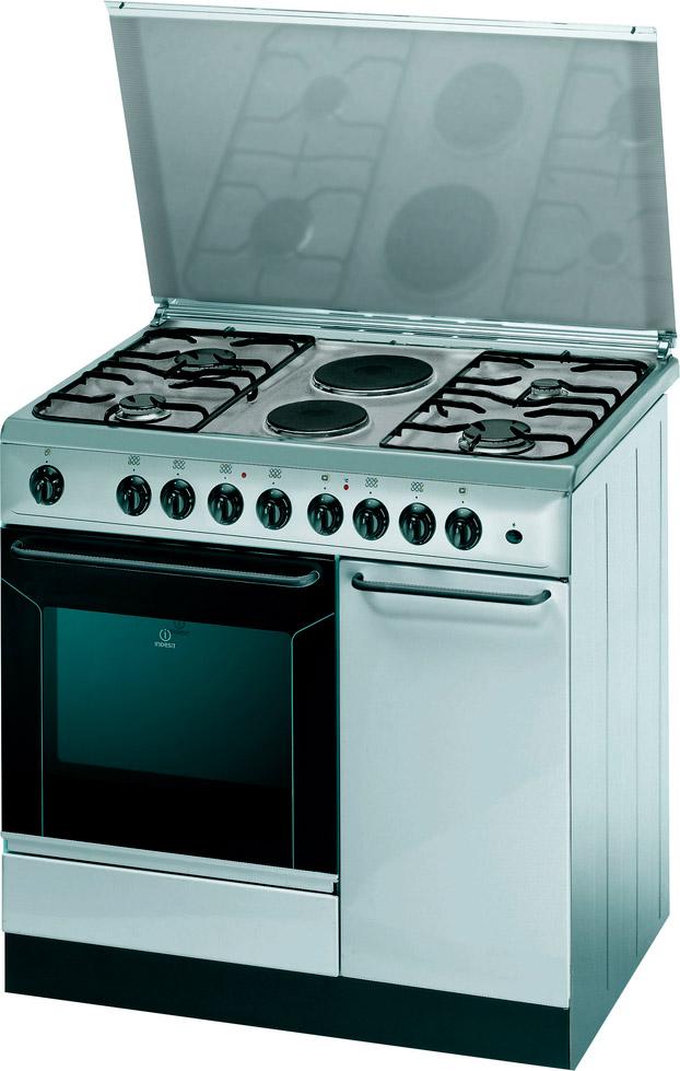 Indesit cucina a gas 4 fuochi 2 piastre forno elettrico 90x60 cm k9b11sb x i ebay - Cucina ariston 4 fuochi ...