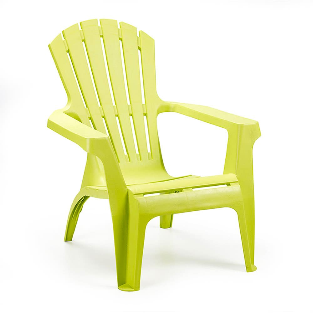 Sedie In Plastica Da Giardino Prezzi.Sedia Da Esterno Giardino In Plastica Poltrona 75x86x86 Cm Verde