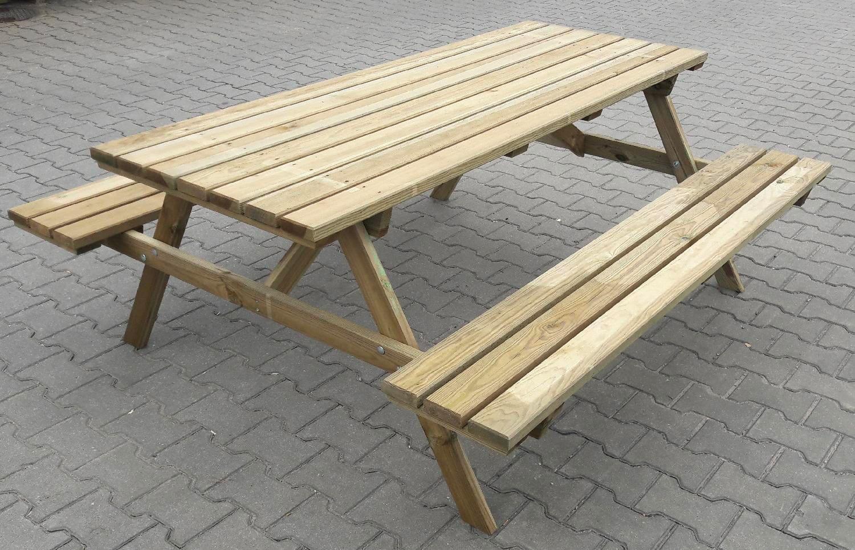 Set tavolo birreria tavolo con panche in legno per for Set giardino legno