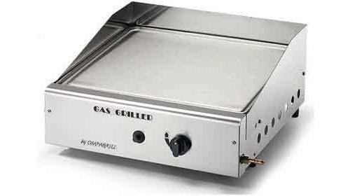 Barbecue a gas inox da tavolo con piastra e cappa paravento ompagrill 4044 m ebay - Barbecue a gas da tavolo ...