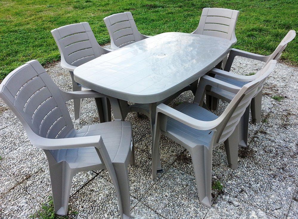 Tavolo da giardino in resina rettangolare 136x82 cm p a s for Tavolo da giardino usato