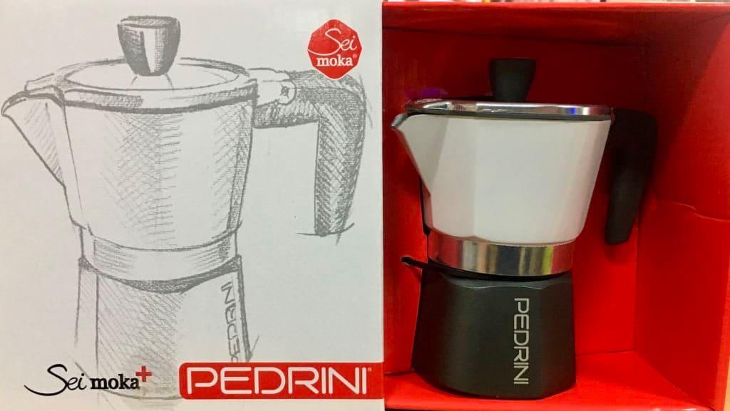 Moka 6 Tazze Macchinetta Caffe in Alluminio Pedrini 02CF057 Sei Moka Plus