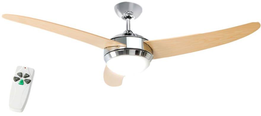 Ventilatore soffitto telecomando luce perenz a 3 pale lampadario ø