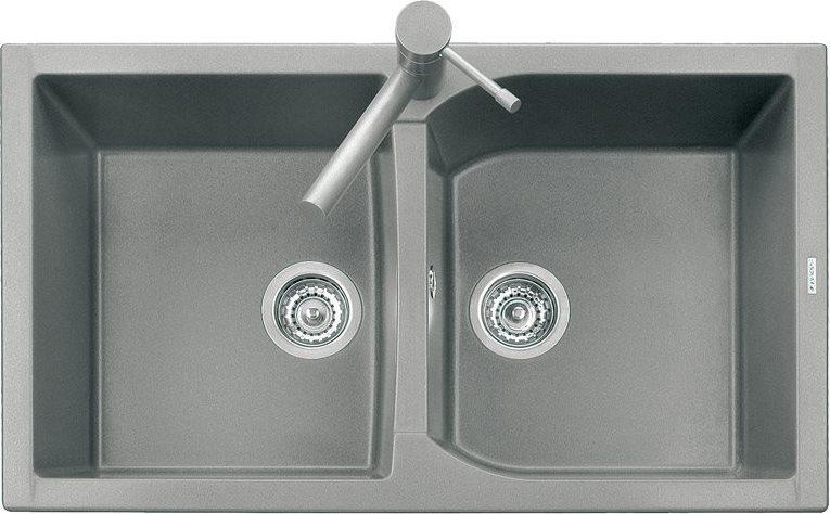 Plados Lavello Cucina Incasso 2 Vasche 86 cm Nero Corax CX0862UM44 ...