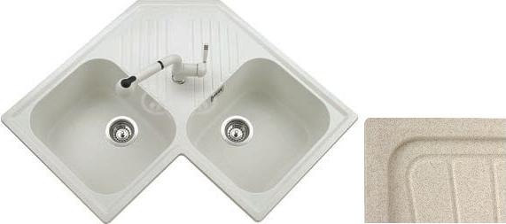 Dettagli su Lavello Cucina 2 Vasche Angolare Angolo Plados 83 cm FTA8320UG94
