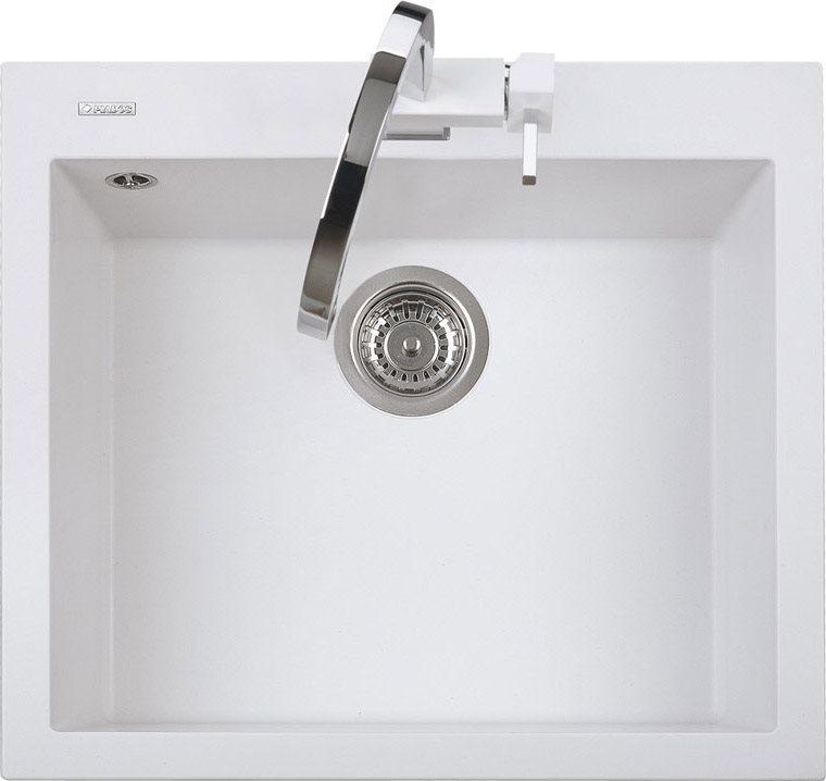Dettagli su Lavello Cucina 1 Vasca Bianco Incasso eff. Fragranite Plados  56cm One ON5610UG58