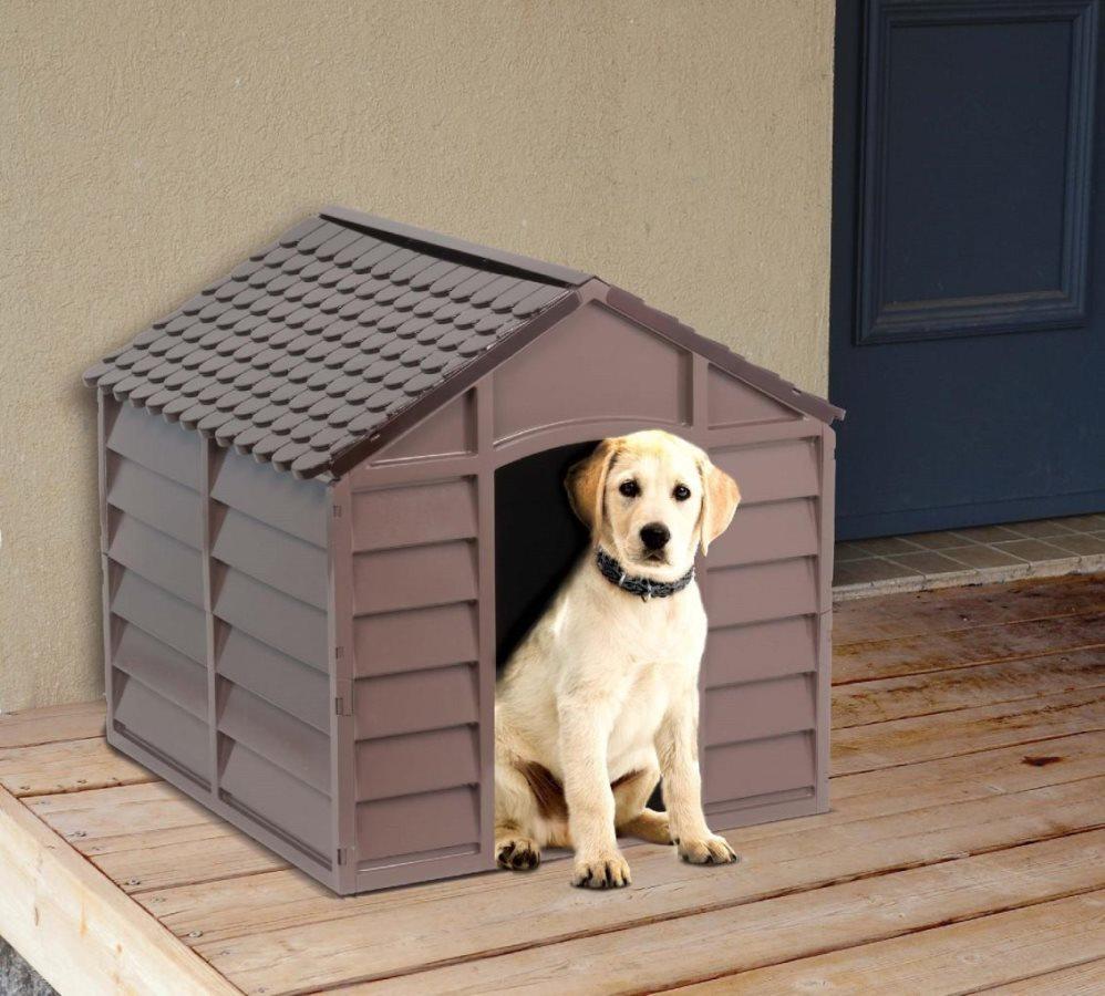 Cucce Piccole Per Cani dettagli su cuccia per cani in plastica cm 71x71x68h colore beige / marrone  starplast