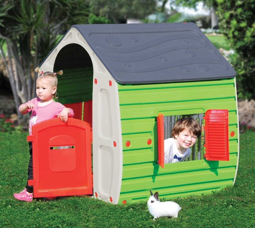 Casetta giardino bambini gioco in resina termoplastica for Casetta giardino bambini usata