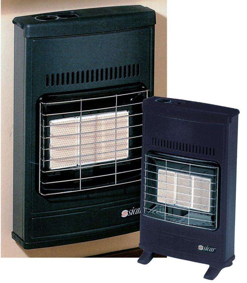 Stufa a gas gpl portatile infrarossi sicar max 4200w eco for Stufa catalitica o infrarossi
