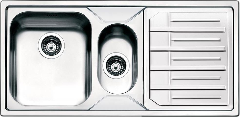 Dettagli su Lavello Cucina 1 Vasca e 1/2 Incasso Acciaio Inox Smeg 100 cm  LPE102D