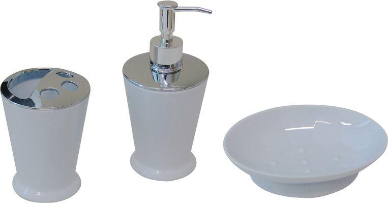Set Accessori Bagno Offerte.Dettagli Su Accessori Bagno Set Dispenser Portaspazzolini Portasapone Tata Linda Ftc12set